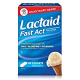 Lactaid Fast Act - Helps Prevent Gas, Bloating, Diarrhea - 90 caps