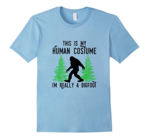 Baby North West Halloween Costume (Mens This Is My Human Costume I'm Really A Bigfoot T-Shirt Black 3XL Baby Blue)