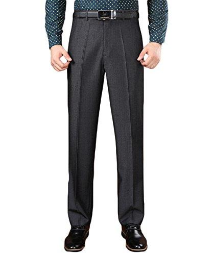Pantalon Chino Robe De Travail Des Hommes Yffushi-pantalon Coupe Droite Pas Épaisse Toison De Fer # 6529 Gris Foncé