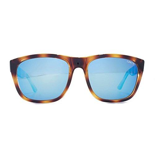 Blue Tokyo Mirror de écaille soleil Levis Lunettes en carrées de 05 LO22395 P10qng4wv