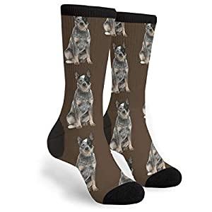 Packsjap Australian Cattle Dog Men & Women Casual Cool Cute Crazy Funny Athletic Sport Colorful Fancy Novelty Graphic Crew Tube Socks 2