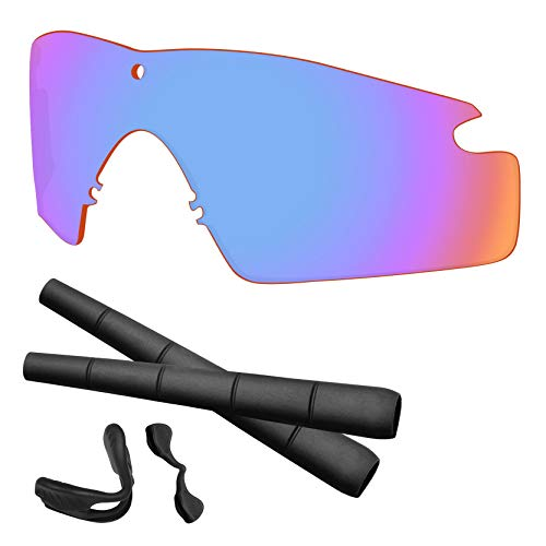 Predrox Sports Pink Si M Frame 2.0 Lenses & Rubber Kits Replacement for Oakley (Replacement Lens Kit)