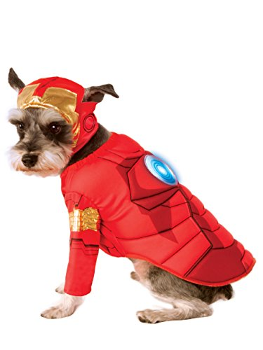 Rubie's Avengers Assemble Deluxe Iron Man Pet Costume, Small, Multicolor