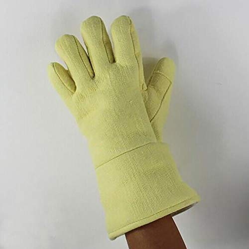 DAN Welding Gloves Heat Resistant Cow Split Leather/Camping/Cooking Welder Fireplace by DAN (Image #5)