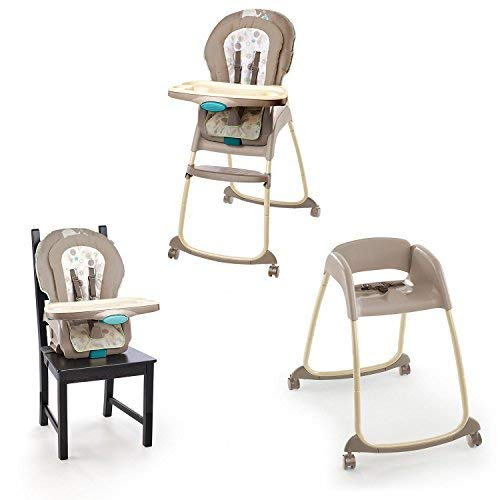 Trio 3 In 1 Deluxe High Chair Sahara Burst Can seat 2 children at Once Removable Infant Bolster Provides Extra Support 3 Position Seat Recline