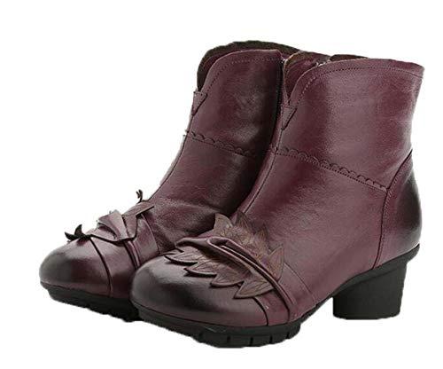 Y E Redonda Botas Purple Cortas Algodón Mujer Invierno De Medias Cabeza Otoño Zapatos zc7RWqEy6R