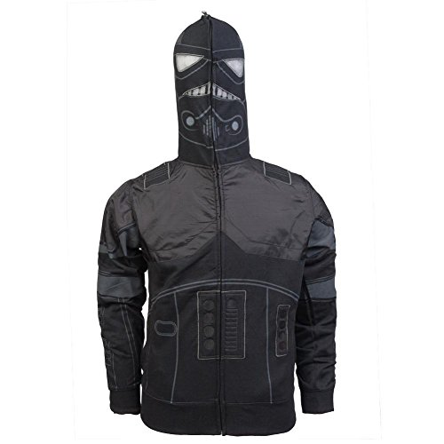 Star Wars Men's The Shadow Costume Hoodie, Black, -