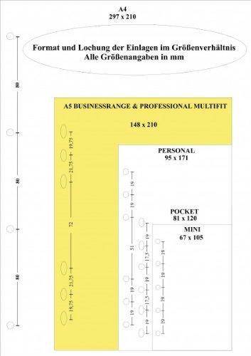 Filofax Einlage A5 weiße Notizblätter karierte