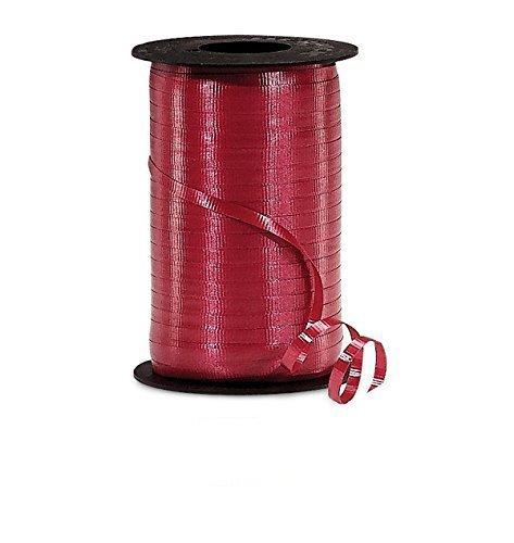 Burgundy Crimped Curling Ribbon 3/8
