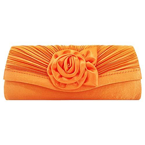Cckuu Girl Women Rose Bag Clutch Prom Wedding Bridal Evening Party Handbag Purse(Gold)