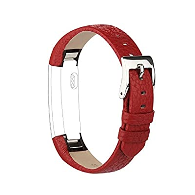 AK Bands for Fitbit Alta / Fitbit Alta HR 2017, Adjustable Comfortable Fitbit Alta / Fitbit Alta HR Accessories Leather Wristband for Fitbit Alta HR 2017 / Fitbit Alta Bands