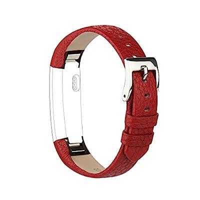 AK Bands for Fitbit Alta / Fitbit Alta HR 2017, Adjustable Comfortable Fitbit Alta / Fitbit Alta HR Accessories Leather Wristband for Fitbit Alta HR 2017 / Fitbit Alta Bands
