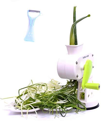 Hoho com 2-Piece Peeler kitchaide chopper Ultra Sharp Cylinders Green Onion Slicer Kitchen Vegetable Cutter (White)/Japanese vegetable ()