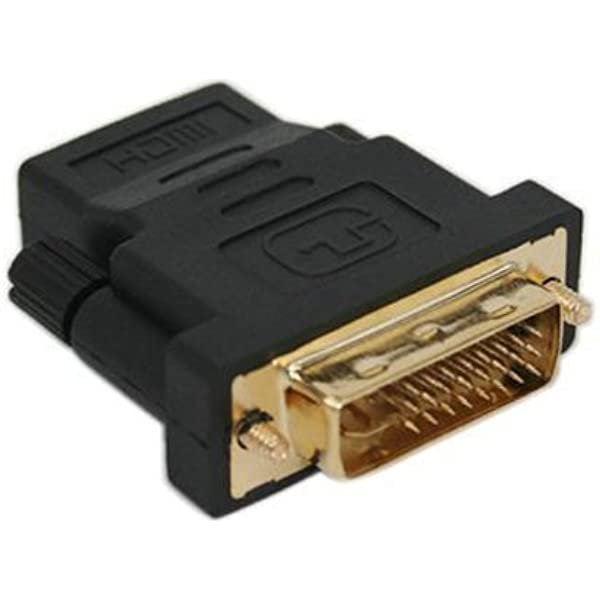 SODIAL(R) Adaptador DVI-I Dual-Link 24+5 Macho a HDMI Hembra ...