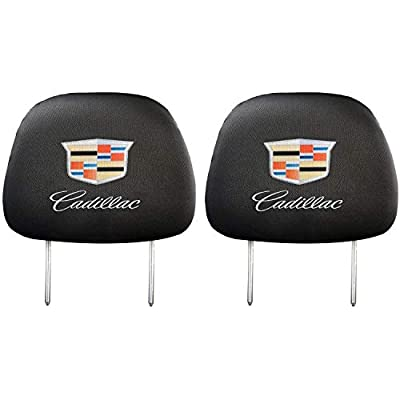 99 Carpro Headrest Covers for Cadillac, Car Truck SUV Van Headrest Covers for Cadillac Vehicles - Set of 2: Automotive
