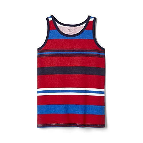 Striped Rib Knit Tanks - French Toast Boys' Little Tank Top, Navy, 6