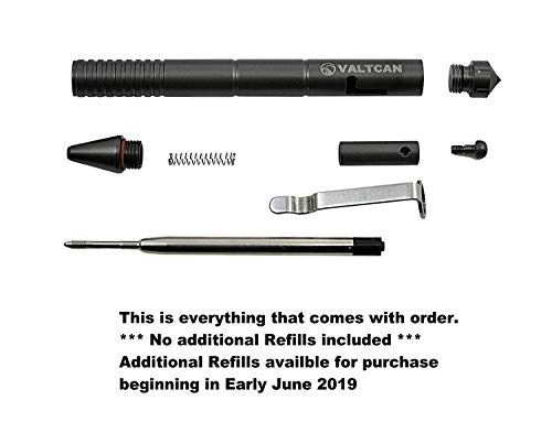 Valtcan Impel Titanium Bolt Pen with Tungsten Tip Tactical EDC Military Patrol Gear Design Space Black Gray Matte by Valtcan (Image #3)