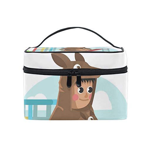 TIKISMILE Kangaroo Costume Child Cosmetic Bag Carrying Portable Zip Travel Makeup toiletry Bag for women ()