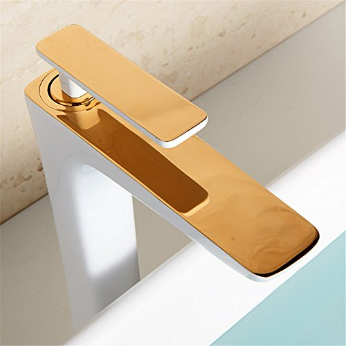ASLKV Basin Faucet Copper Faucet Hot And Cold Above Counter Basin Bathroom Cabinet Bathtub Basin Paint Faucet 1