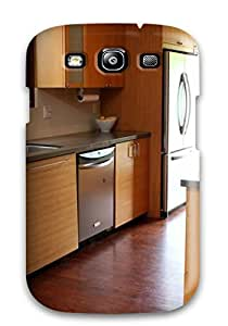 Awesome Case Cover/galaxy S3 Defender Case Cover(modern Wood Cabinetry With Warm Gray Countertops)