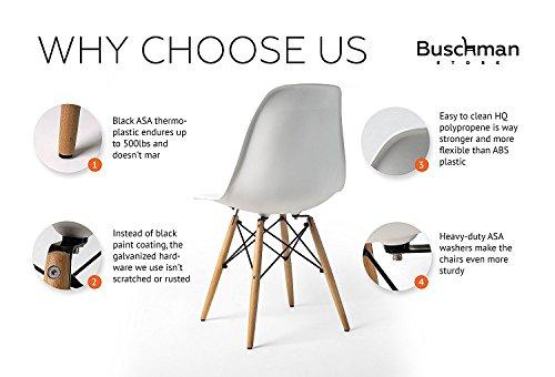 Buschman Set of Mid Century Modern Dining Room Chairs 413mceetJVL
