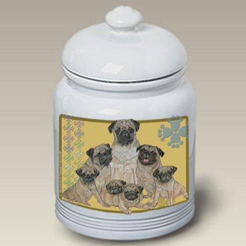 - Pugs Ceramic Treat Jar 10