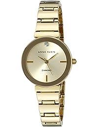 ee89661eee8 Women s AK 2434CHGB Diamond-Accented Gold-Tone Bracelet Watch · Anne Klein