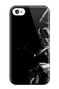 AnnaSanders Iphone 4/4s Well-designed Hard Case Cover Smoking Skeleton Dark Abstract Dark Protector