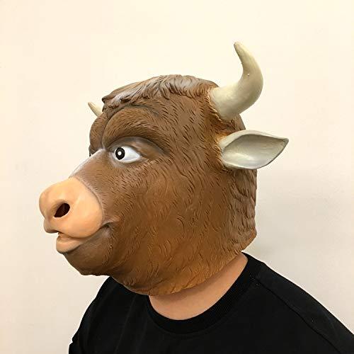 Morbuy Máscara de Cabeza Animal de Látex, Adulto Látex Novedad Interesante Cabeza Máscaras Halloween Cara Fiesta de Disfraces Cosplay (Ganado): Amazon.es: ...
