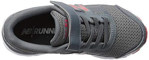 New Balance Boys' 680v5 Hook and Loop Running Shoe Lead/red 2 M US Infant by New Balance (Image #7)