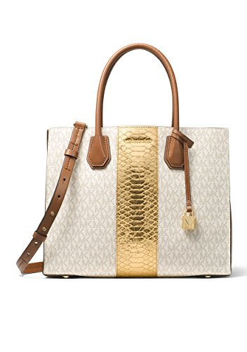 MICHAEL Michael Kors Women's Mercer Tote - White Gold Michael Kors And