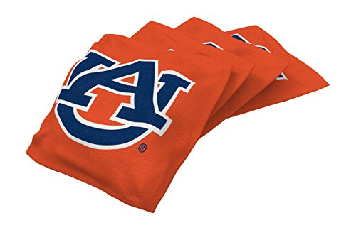 Wild Sports NCAA College Auburn Tigers Orange Authentic Cornhole Bean Bag Set (4 Pack)
