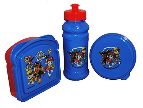 Paw Patrol Blue and Red Water bottle, Snack Container, and Sandwich Container ()