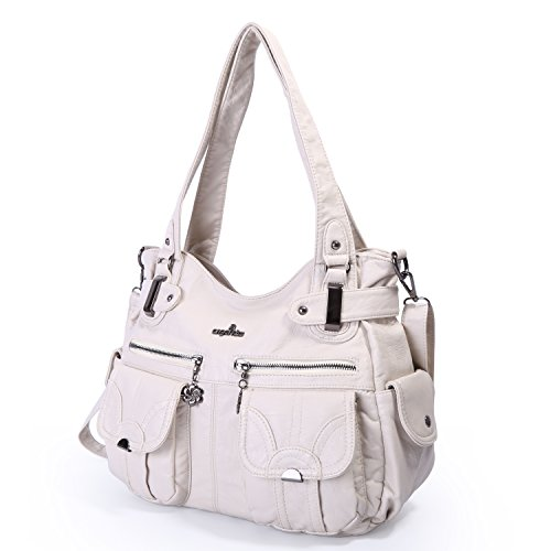 Handbag Shoulder Bag Angelkiss Multi Apricot Pocket Large Double Washed For Women's Handbags Designer Women Zipper a88zpxq5w