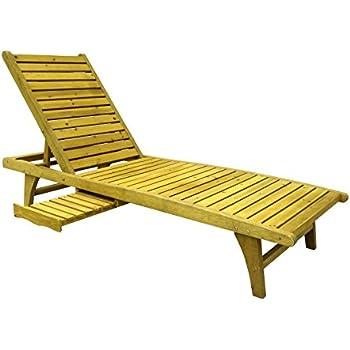 Amazon Com Lisbon Wood Outdoor Chaise Lounge Garden