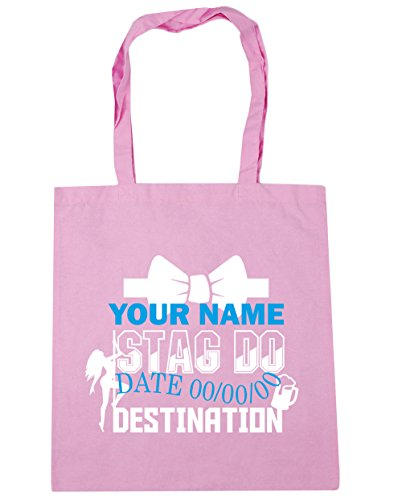 litres 10 Pink Gym Personalised x38cm Classic Shopping Beach Stag Tote 42cm HippoWarehouse Bag Event Do BAFwP7q