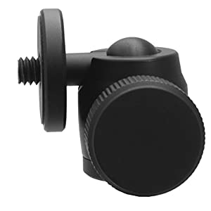 "Mini Ball Head for Photo, Video, Lighting and VR, works with iPhone, Android, Smartphone, Action Camera, Digital Camera, HTC Vive, has All Metal Construction and 1/4""-20 Mounts, Supports 2 lbs / 1 kg"