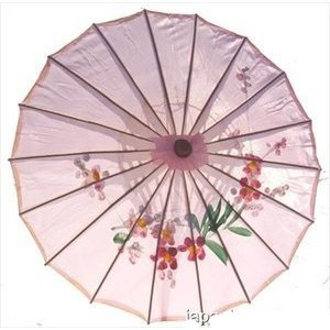 JapanBargain S-2170, Kid's Size Chinese Japanese Oriental Parasol Umbrella 22-inch, Pink Color -