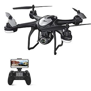 Potensic Drone GPS T18 Hélicoptère FPV Caméra 120° Grand Angle Réglable HD 1080P Télécommande RC WiFi avec Flips 3D…