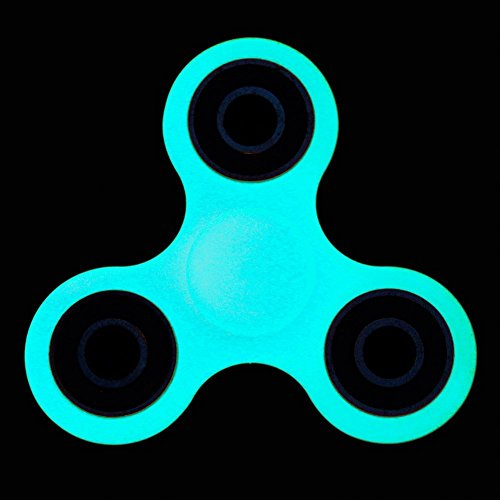Price comparison product image Tri Spinner Hand Toy Fidget Spinner Stress Reliever For ADD, ADHD, Anxiety, Glow In The Dark, Long Time Spinning, Quiet No Noise, Perfect Fun Toy for Adults and Children Fluorescence