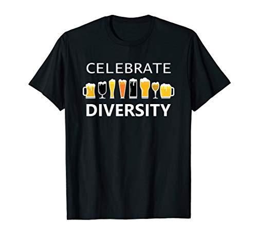 Celebrate Diversity Craft Beer Lover IPA Prost Oktoberfest  T-Shirt