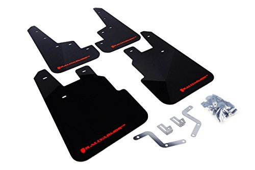 Rally Armor MF28-UR-BLK/RD Black, Red Mud Flap with Logo (14+ Subaru Forester)
