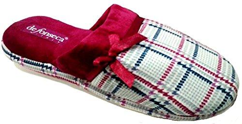 DE FONSECA ciabatte pantofole invernali da donna mod. ROMA TOP W48 CILIEGIA