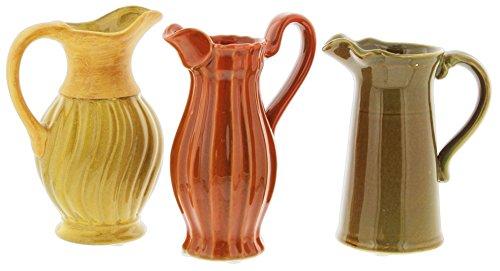 Lucky Winner Set of 3 Assorted Decorative Vases in Yellow, Orange, Green 6