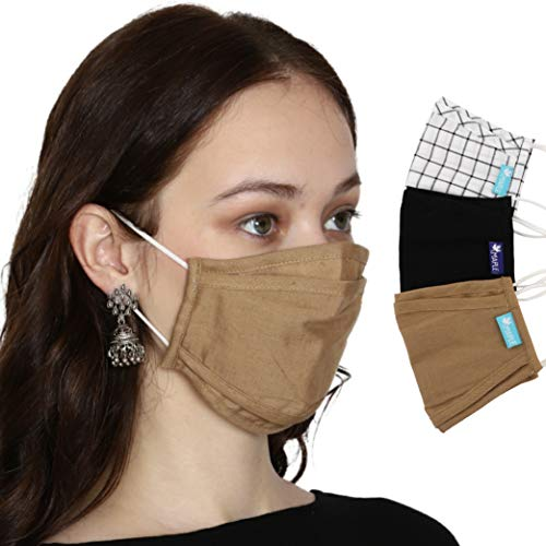 Maple™ MP-A1 Fine Cotton Printed Face Mask Stylish Designer- Fancy (Pack of 3) Quality 3 Layer Filtration Anti Pollution/Dust Protection Breathable Reusable & Washable 3 Ply Cloth Face Cover for Men Women & Teens with Cotton Earloop Free size Unisex Assorted Multicolor ,Make in India Price & Reviews