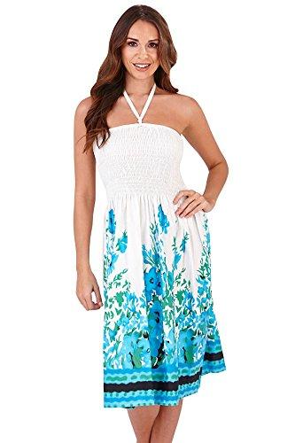 Martildo, 3 en 1 robe courte de vacances d't pour femmes Seychelles Blue