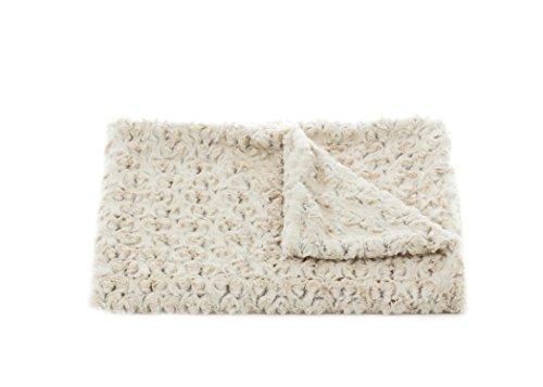 - Tourance Rosebud Duotone Toddler Blanket, Cream and Sahara, 30