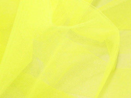 Minerva Crafts Suave Tul Tejido de Malla Fluorescente limón - por ...