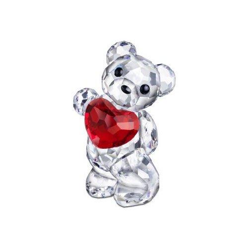 Swarovski Kris Bear Figurine, a Heart for You Crystal Heart Figurine