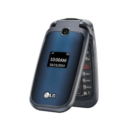 LG 450 Black - Prepaid - No Contract (T-Mobile) (Renewed) (Tmobile No Contract Cell Phones)